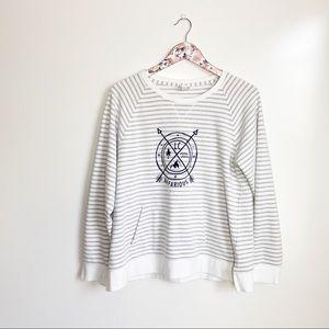 GEAR White & Grey Striped LC Nefarious Sweatshirt